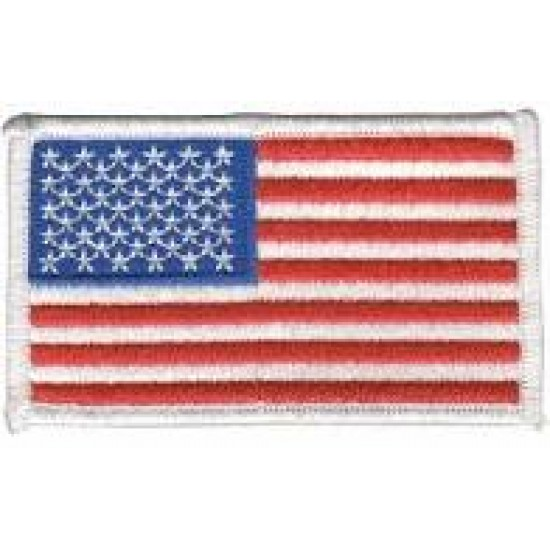 US FLAG PATCH WHITE