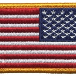 US FLAG PATCH GOLD REVERSED