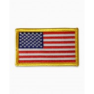 US FLAG PATCH GOLD