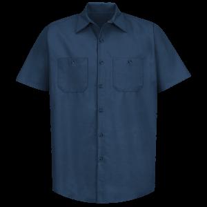 Men's Industrial Poplin Shirts Short Sleeve