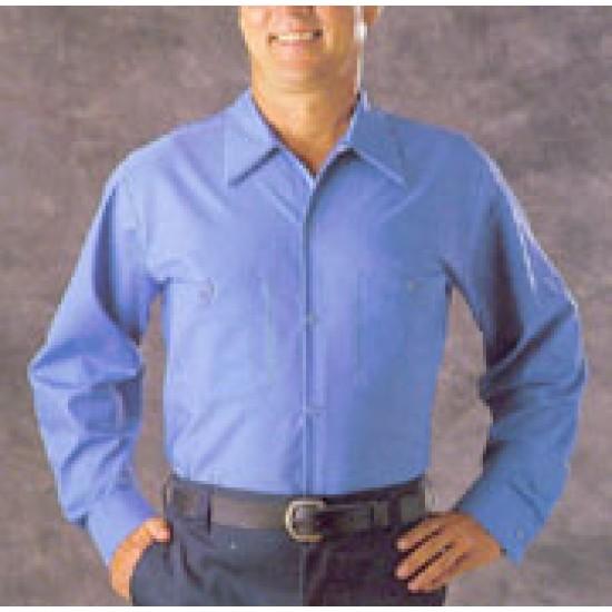 Men's Industrial Poplin Shirts Long Sleeve