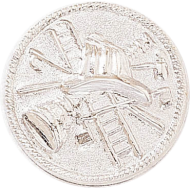 Fireman Bugles Insignia In Metallic Disc