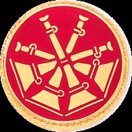 Fireman Bugles Insignia In Round Disc