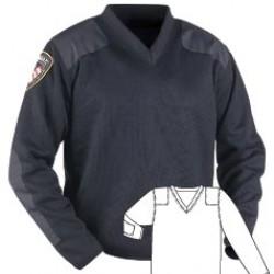 Blauer 225 Fleece Lined V-Neck Sweater