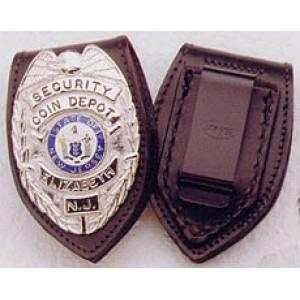 Genuine Leather Badge Backer