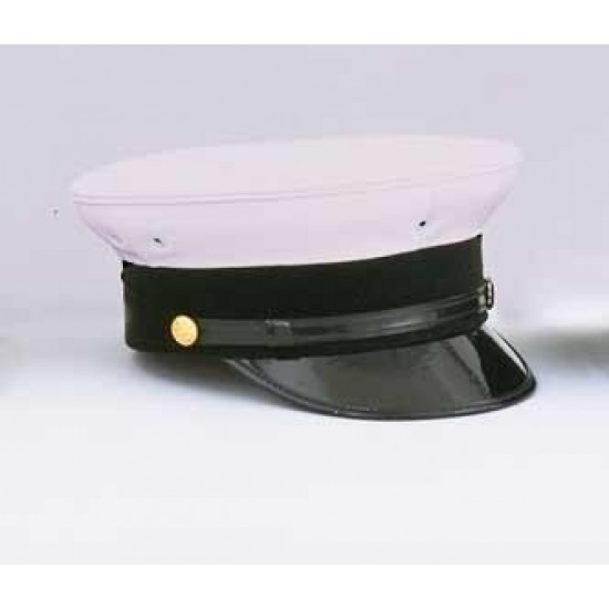 NY Bell Fire Hat - White Top, Navy Band