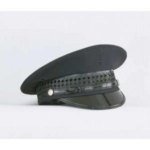 Pershing Dress Hat - Navy Top with removable black band